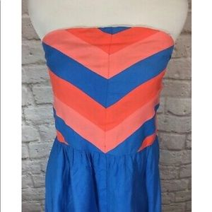 Strapless Chevron Strip Dress 10 Urban Outfitters